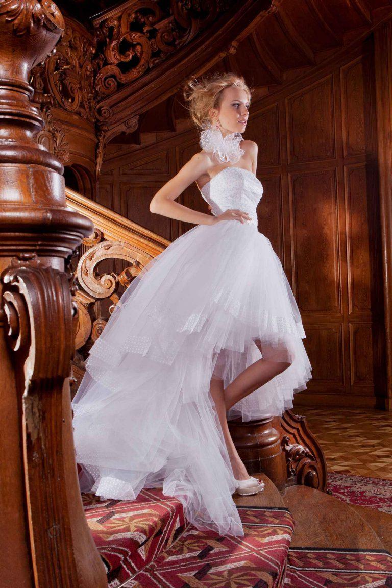 Robe de mariée courte - Leila - Oksana Mukha
