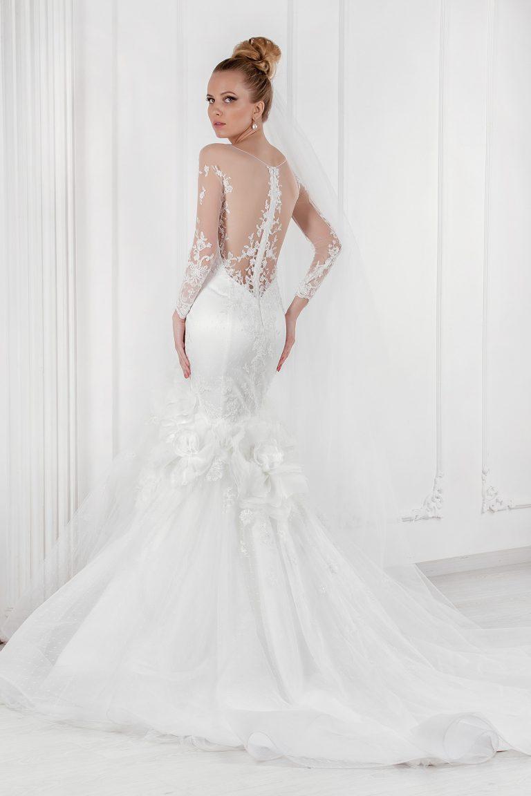 Robe de mariée sirène manches transparentes - Oksana Mukha Paris
