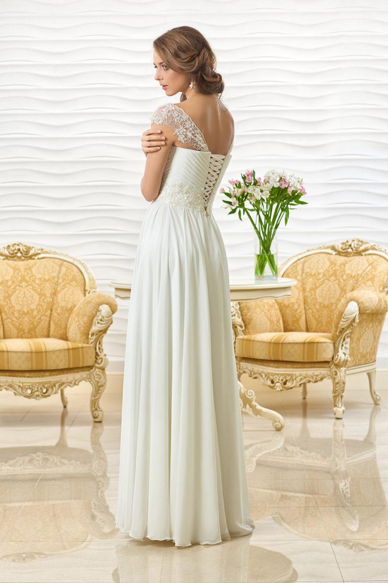 Robe de mariée fluide avec bretelles