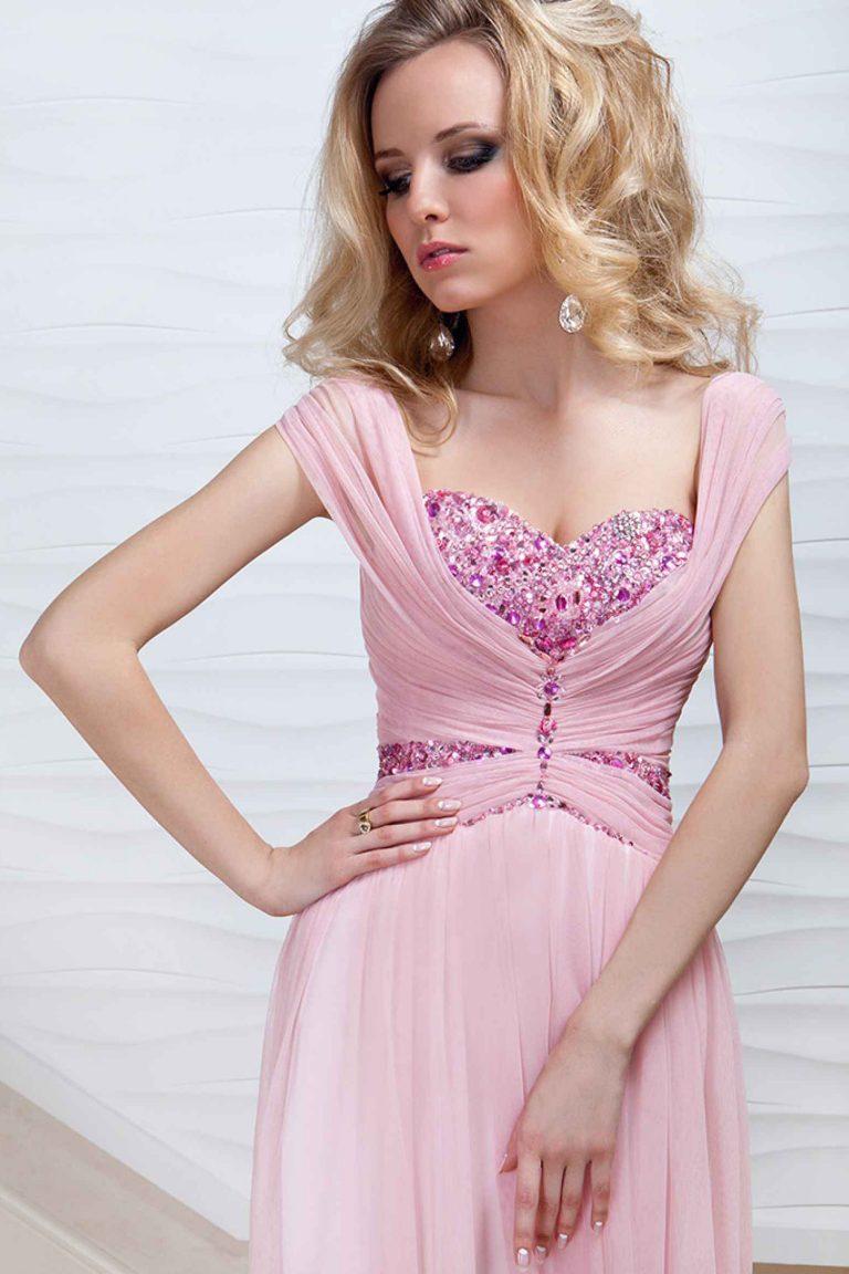 robe de cocktail courte avec jupe longue rose oksana mukha paris. Black Bedroom Furniture Sets. Home Design Ideas