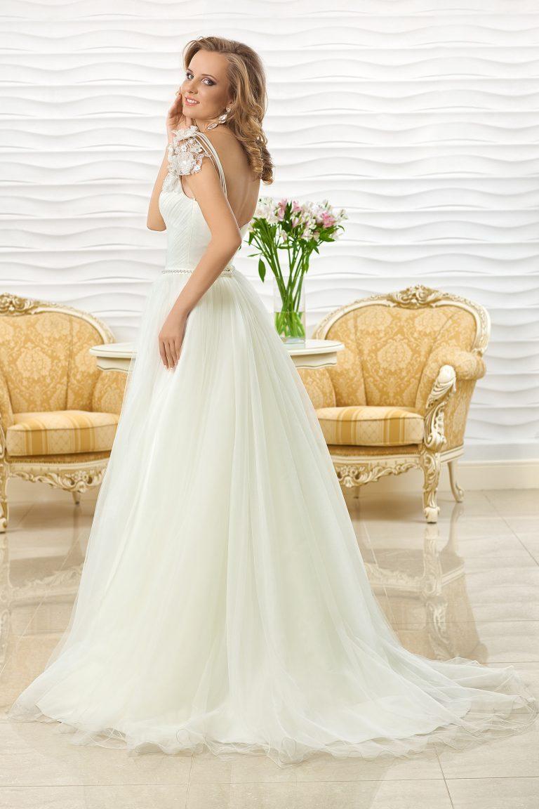 Robe de mariée asymétrique à une bretelle