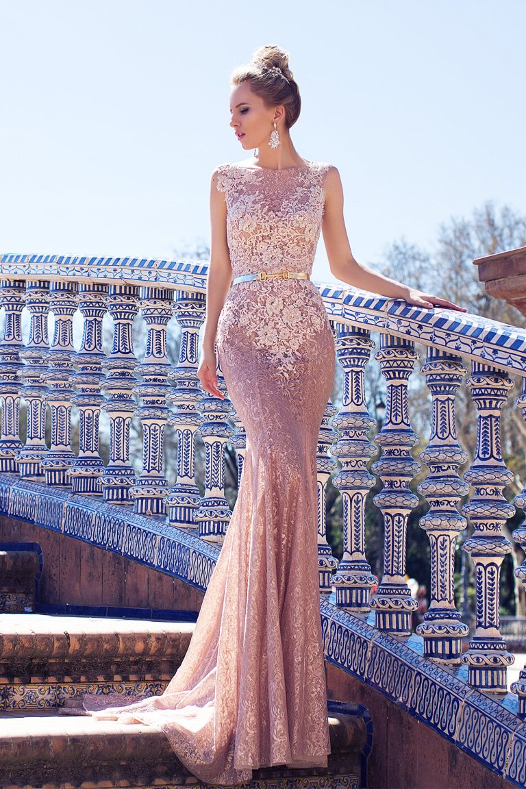 Robe de mariée rose