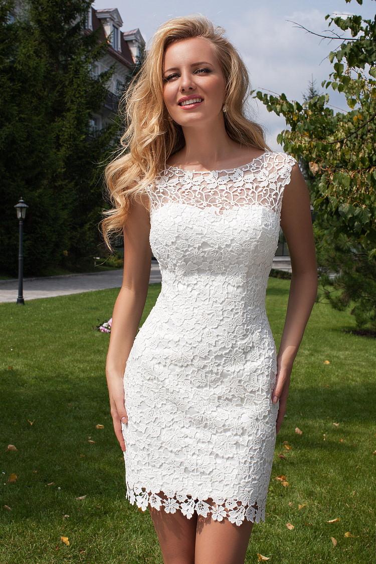 robe de mariee courte en dentelle