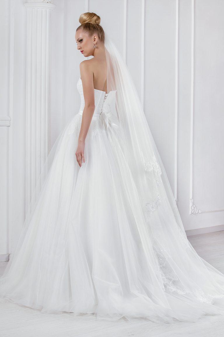 Robe de mariée A-Line en tulle de soie