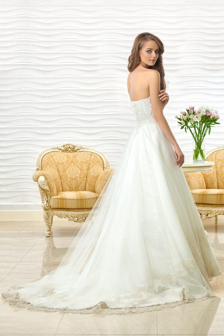 Robe de mariée bustier coquillage