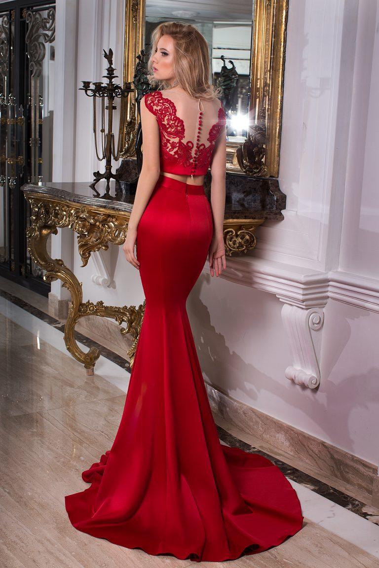 a9170b4affa Robe de soiree deux pieces rouge – Robes de soirée élégantes ...