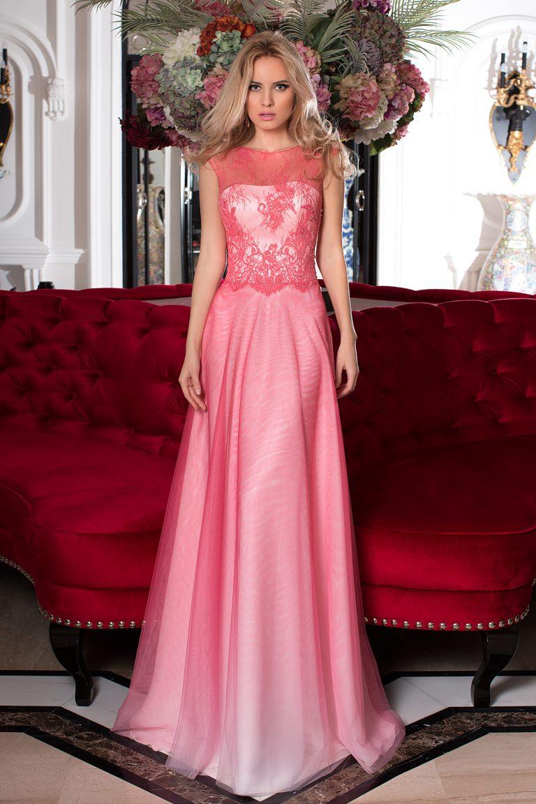 Robe de soirée rose fuchsia