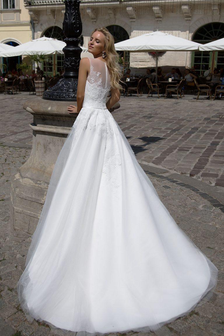 Robe de mariée A-Line en tulle et dentelle