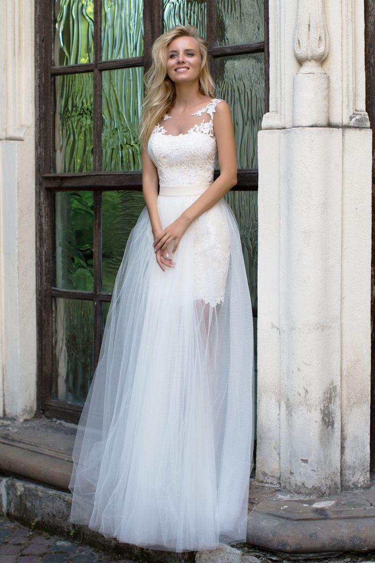 Robe de mariée manches courtes
