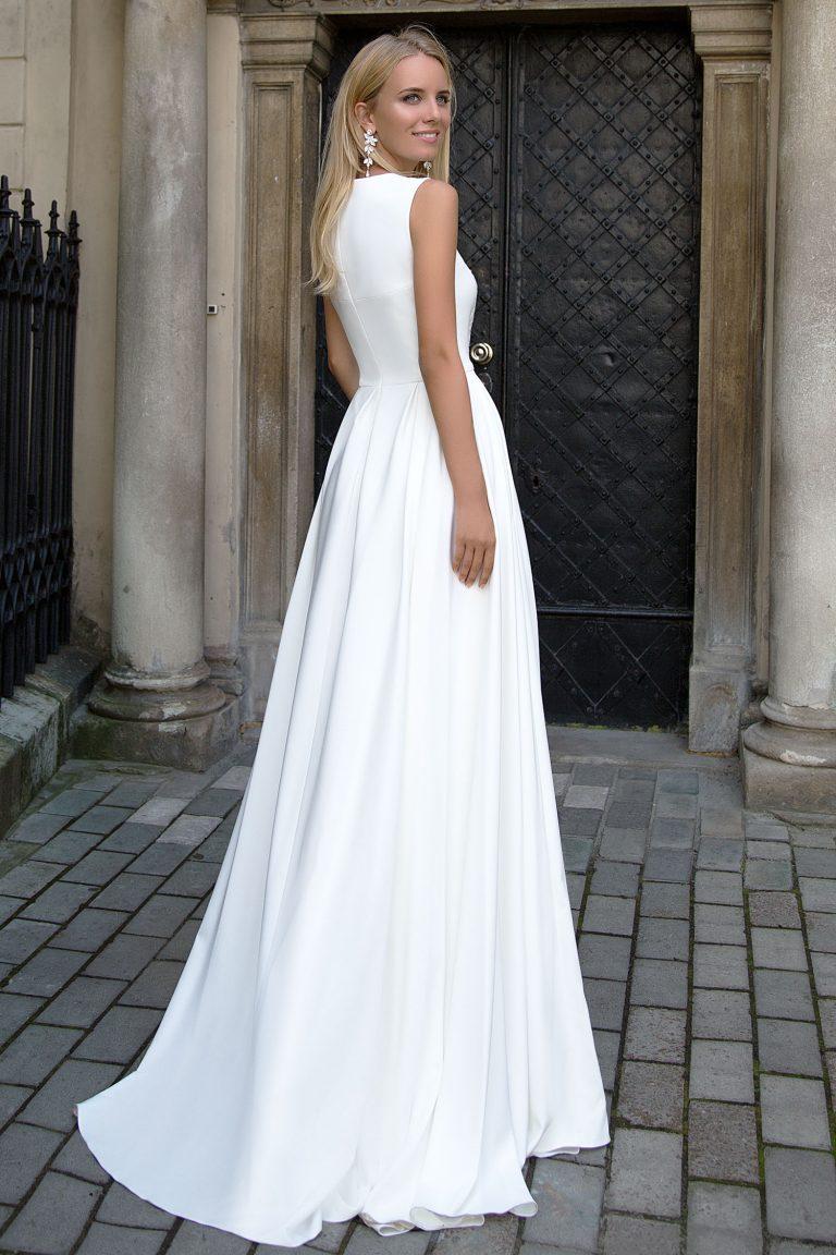 Robe de mariée A-Line en georgette de soie