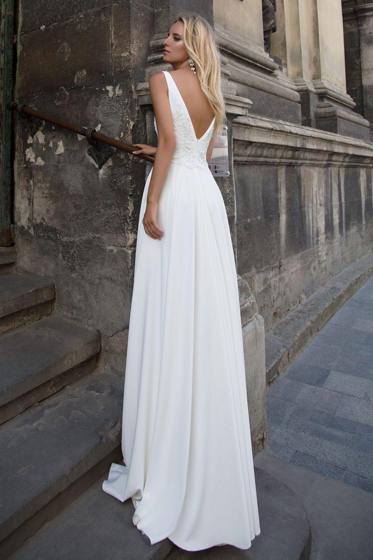 Robe de mariée fluide 2 en 1
