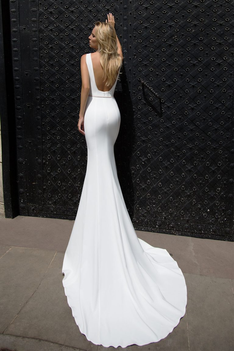 Robe de mariée moulante