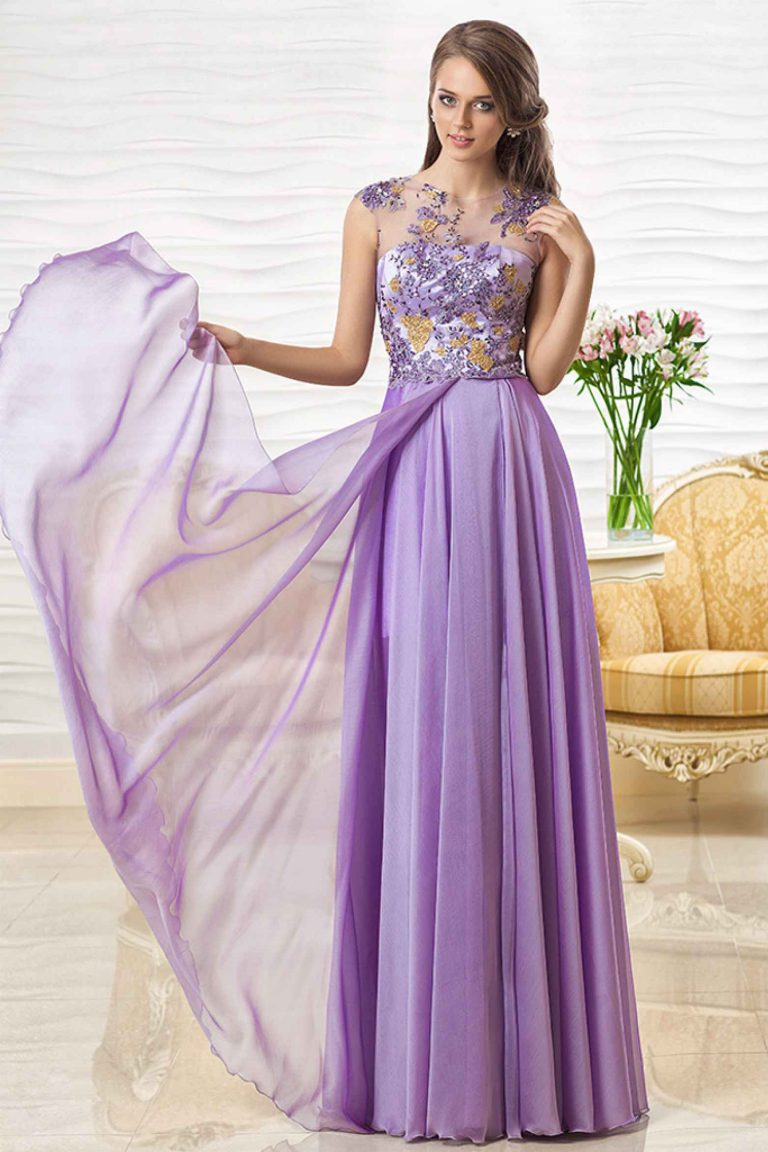 Robe de soirée violette