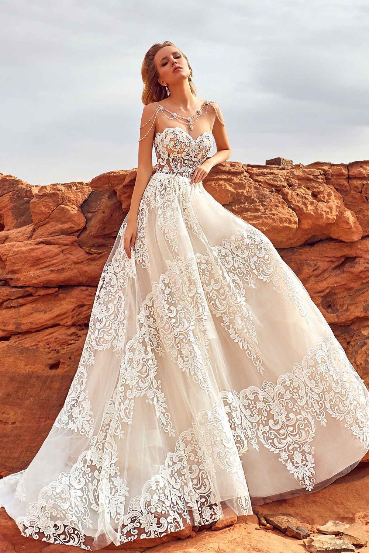 Robe de mariée de luxe avec bustier
