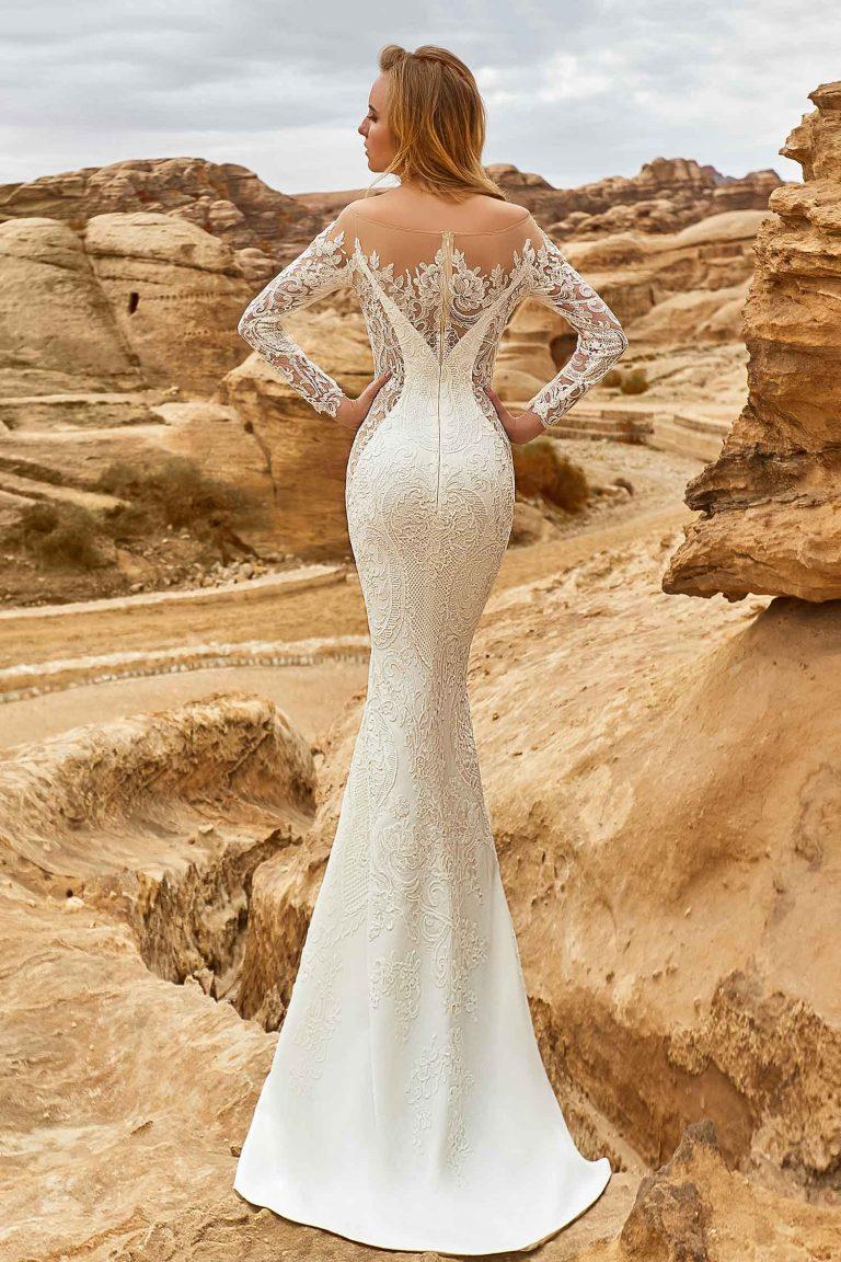Robe de mariée sirène en crêpe de soie