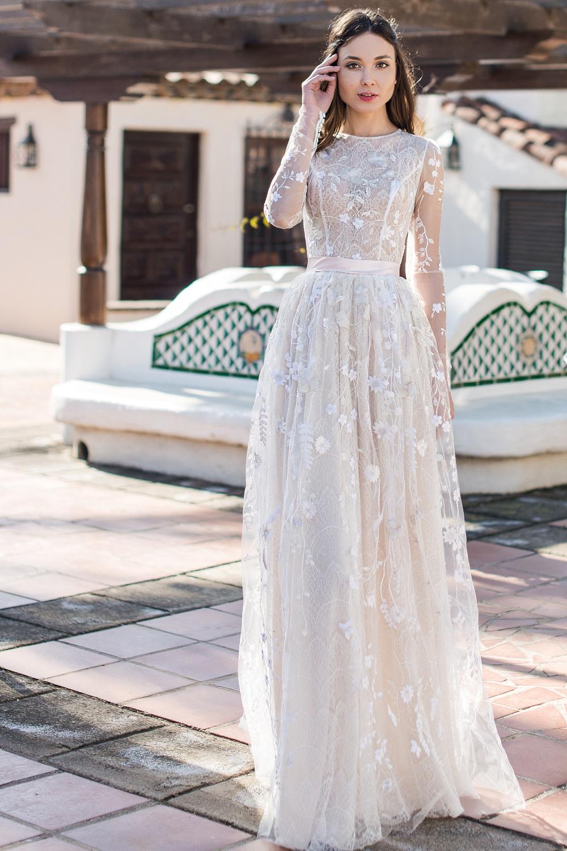 Robe de mariée bohème fleurie , Oksana Mukha Paris