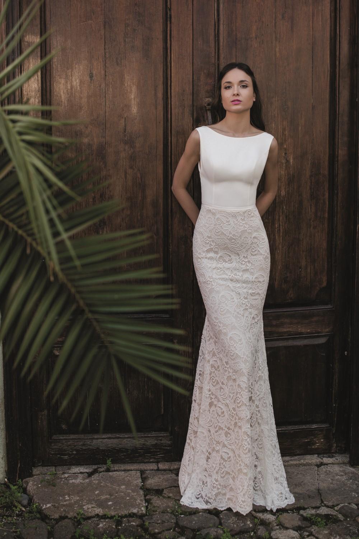 robe de mariee fourreau dentelle 1