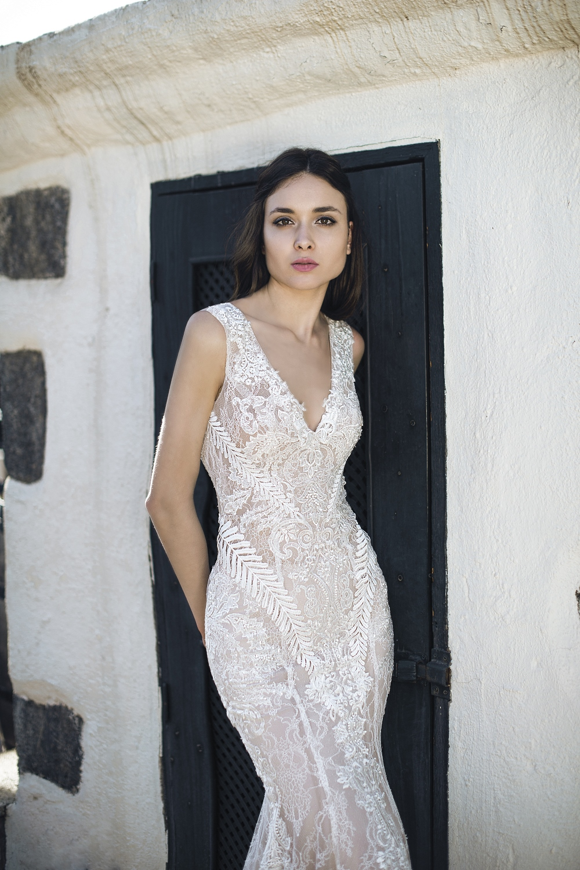 robe de mariee moulante en dentelle