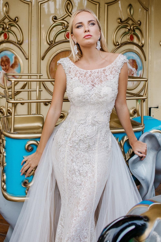 robe de marie parisienne avec traine amovible