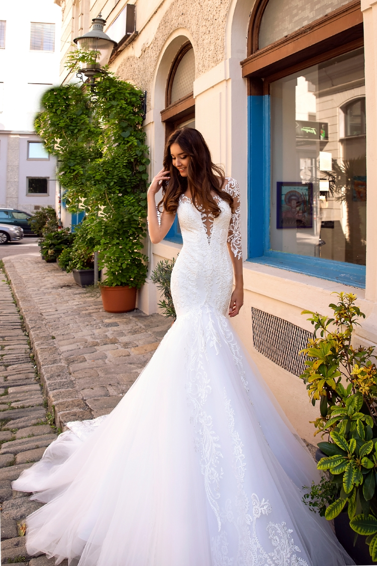 robe de mariee sirene manches longues