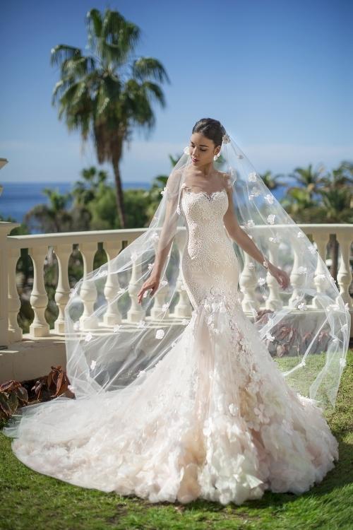 Robe de mariée de luxe coupe sirène
