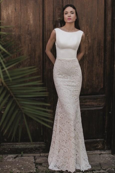 Robe de mariée sirène, droite et fourreau