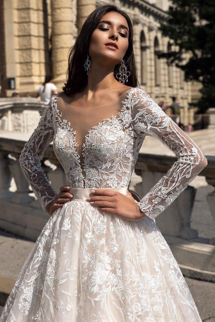 robe de mariee manche longue