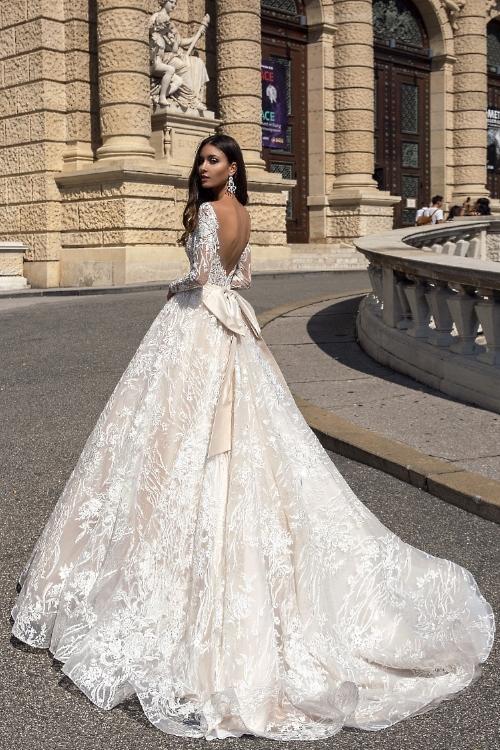 Robe de mariée à longues manches