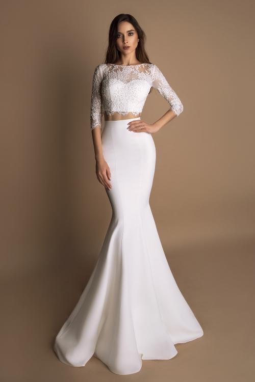 Robe de mariée crop top