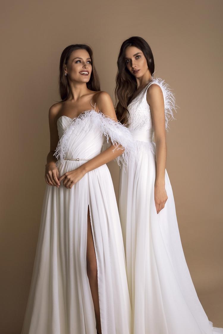robe de mariee plumes