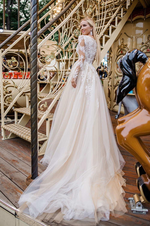 robe de mariee avec longues manches