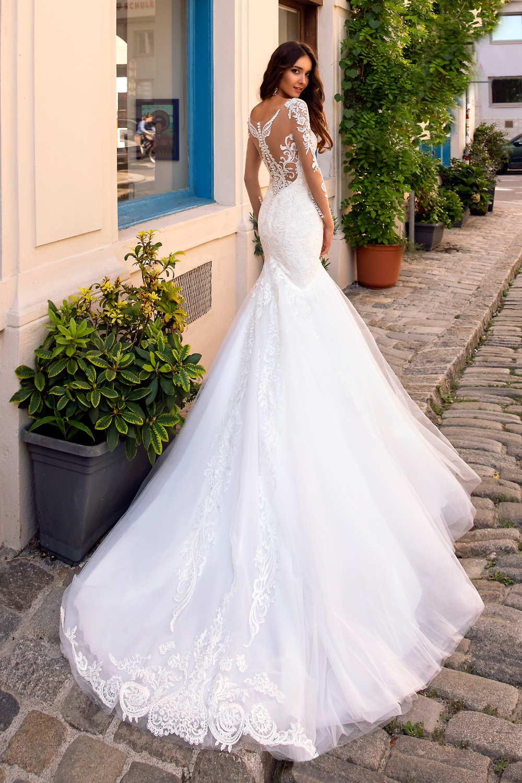 robe de mariee longues manches en dentelle