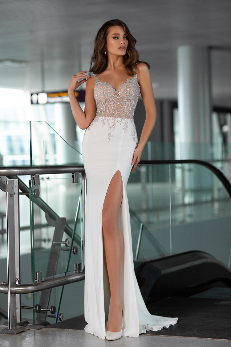 robe de mariee avec jupe fendue