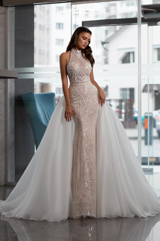 robe de mariee avec traine detachable