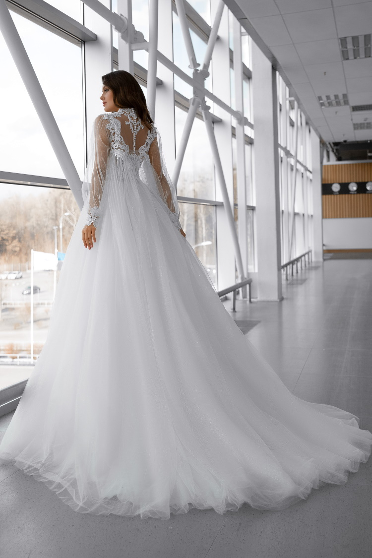 robe de mariee manches transparentes