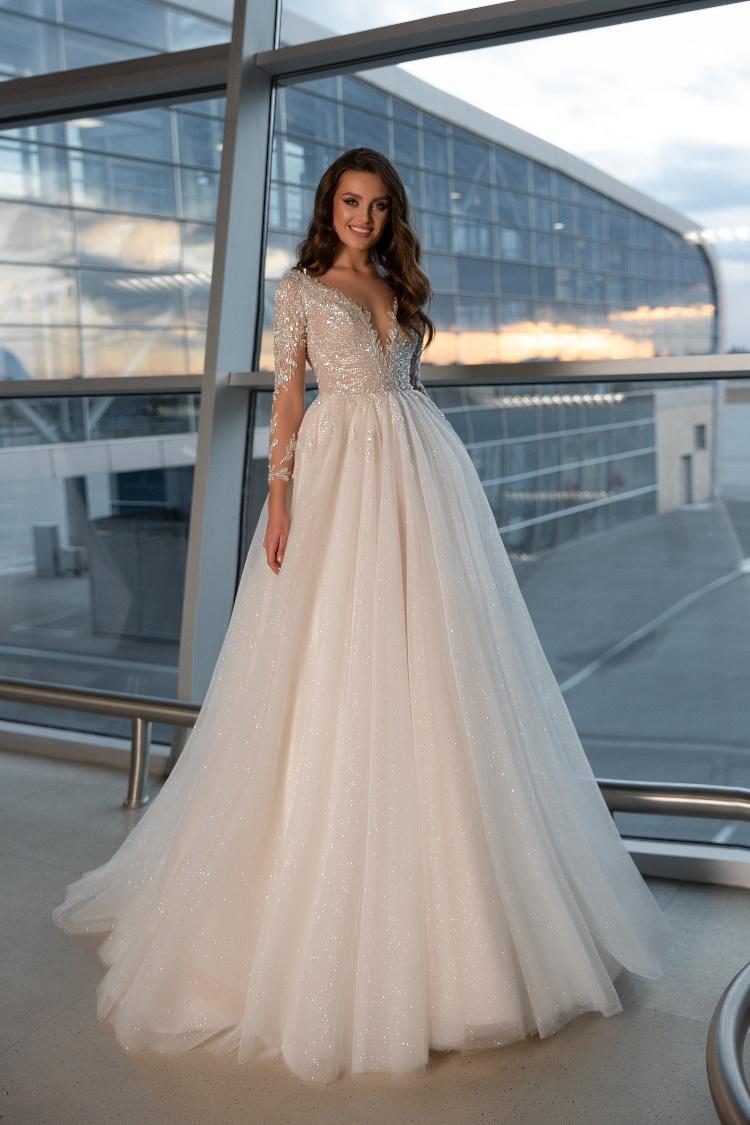 robe de mariee pailletee