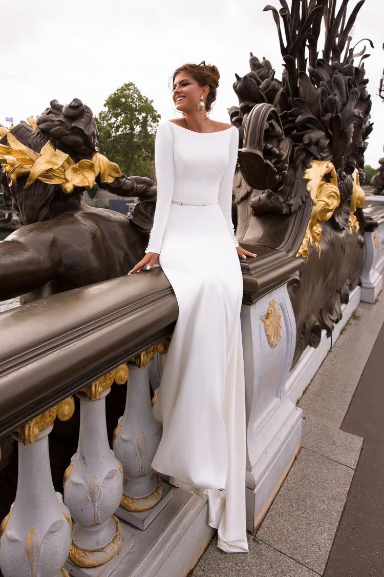 robe de mariee tsniout moderne