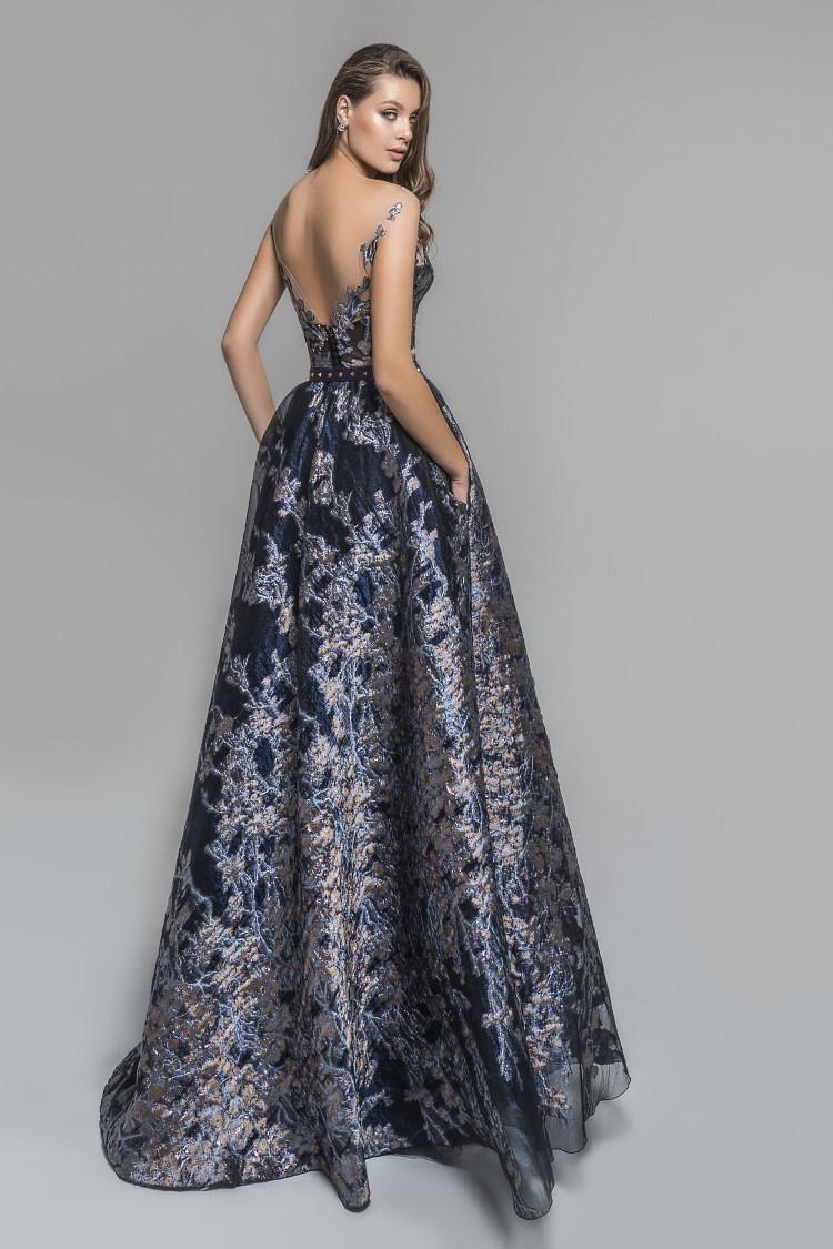 robe de gala en damasse