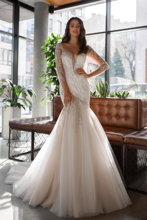 Robe de mariée scintillantee