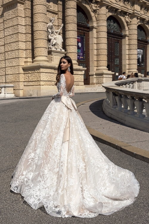 Robe de mariée princesse longues manches