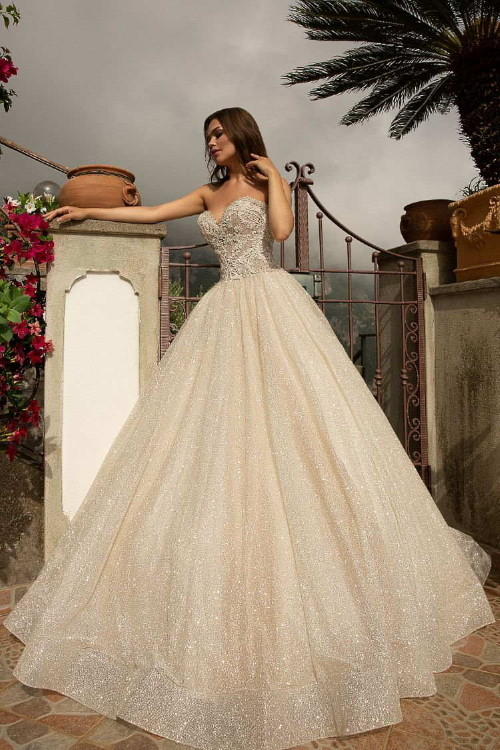 Robe de mariée champagne