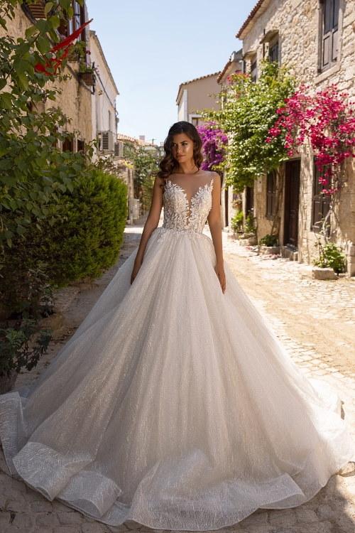 Robe de mariée princesse pailletée