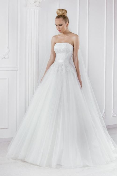 Robe de mariée en tulle de soie