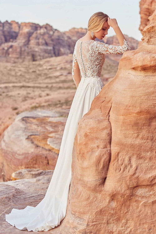 Robe de mariée bi-matières