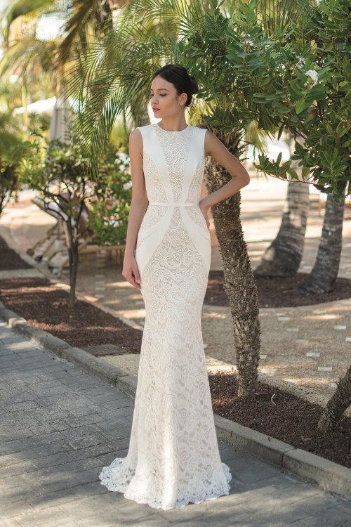 Robe de mariée silhouette ajustée