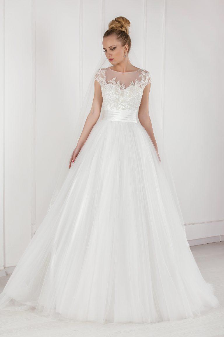 Robe de mariée princesse tulle et dentelle