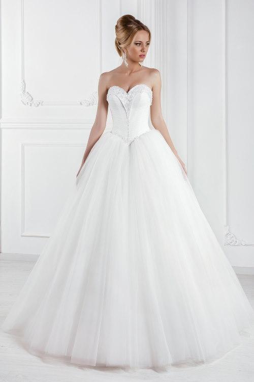 Robe de mariée princesse bustier cœur