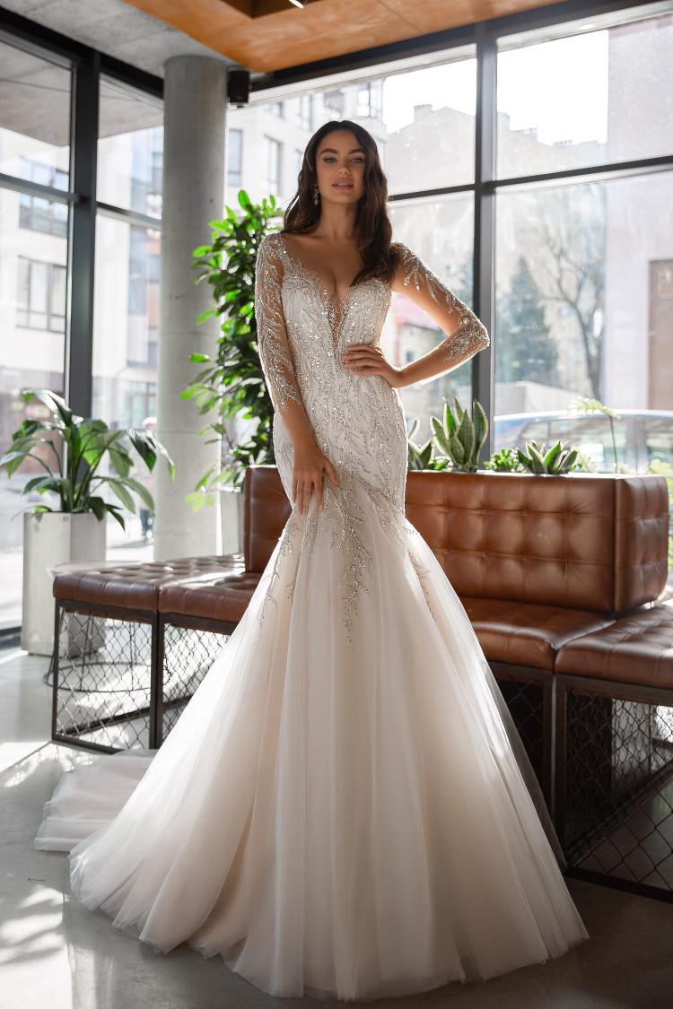 robe de mariee scintillante