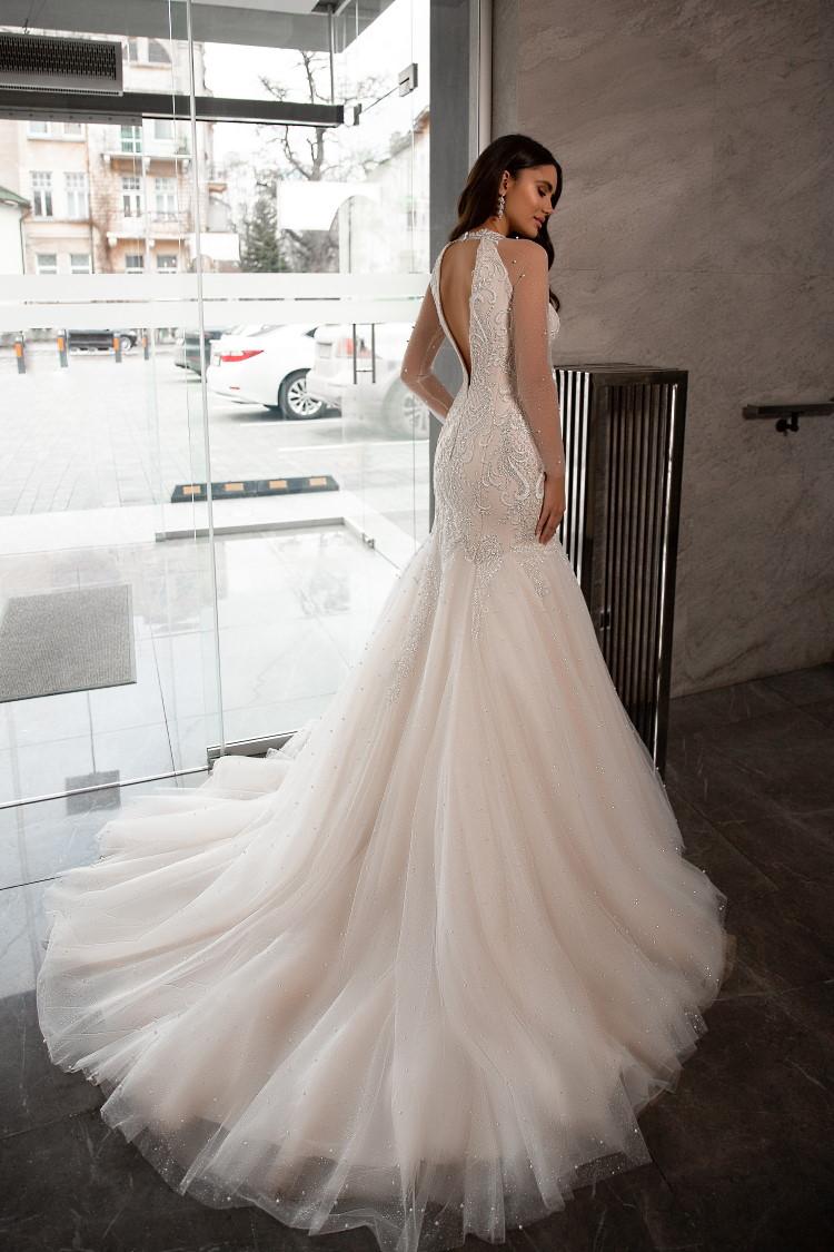robe de mariee sirene dos nu