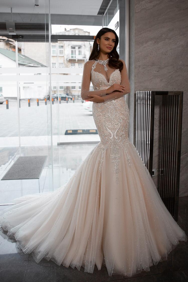 robe de mariee sirene scintillante